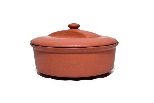 Terracotta Handmade Chapati box wade with clay earthenware 100% natural & organi - $47.52