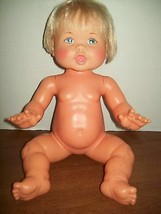 "Baby Doll Vintage 1978 Ideal Blonde Baby Doll Character 16"" Collectible ... - $98.99"