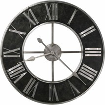 "Wall Clock 32"" Analog Black Metal Roman Numerals Industrial Modern Conte... - $649.00"