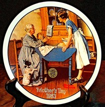 "1983 Mothers Day ""Add Two Cups and a Measure of Love"" by Norman Rockwell Plate A"