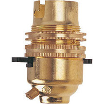 Dencon Bc Brass 1/2 Switched Lampholder With Earth, Skin Packed #eaa - $7.89
