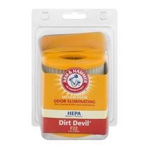 Arm & Hammer* Odor Eliminating Hepa Vacuum Filter Fragrance Free Dirt Devil F22 - $8.99