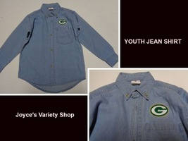 Greenbay Blue Denim Jean Shirt Western Duck Tail Children's Sz 7 NEW - $10.88