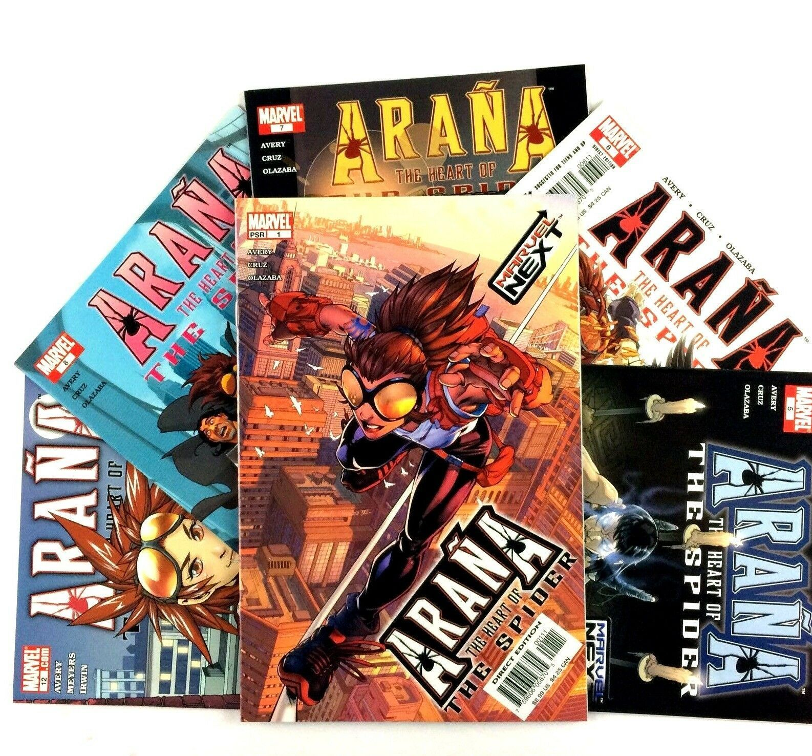 Arana The Heart of the Spider Comic Book Lot 6 Issues Marvel VF NM 1 5 6 7 8 12
