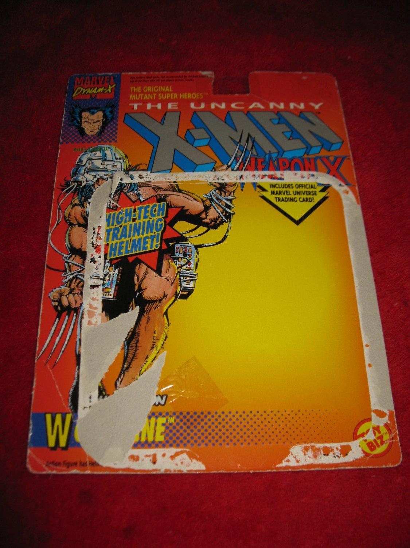 1991 Toybiz / Marvel Comics X-Men Action Figure: Weapon X - Original Cardback