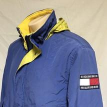 VTG 90s Tommy Hilfiger Sailing Jacket Colorblock Flag Coat Hooded Ski Small - $119.99