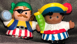 Rare Lot Of 2 Pirates Little People Fisher Price Set Of Two HTF - $19.79