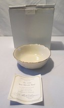 "Lenox Cream and 24K Gold Bone China Rose Blossom Small Bowl  5.5"" NIB COA - $15.00"
