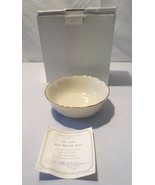 "Lenox Cream and 24K Gold Bone China Rose Blossom Small Bowl  5.5"" NIB COA - $15.00"