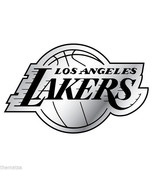 LOS ANGELES LAKERS NBA BASKETBALL AUTO CAR EMBLEM USA MADE  LOGO CHROME - $27.07