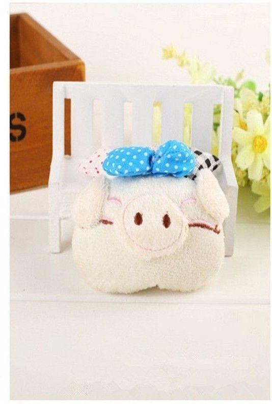 Cute Bowknot Pig 8cm Piggy Plush Toy Pendant Symbol Of 2019 Chinese Zodiac