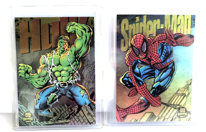 Fleer 1994  Marvel Universe Power Blast Trading Card Set of 9