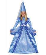 Blue Fairy Princess Kids Costume Dress With Gown, Fairy Hat & Belt - $36.95