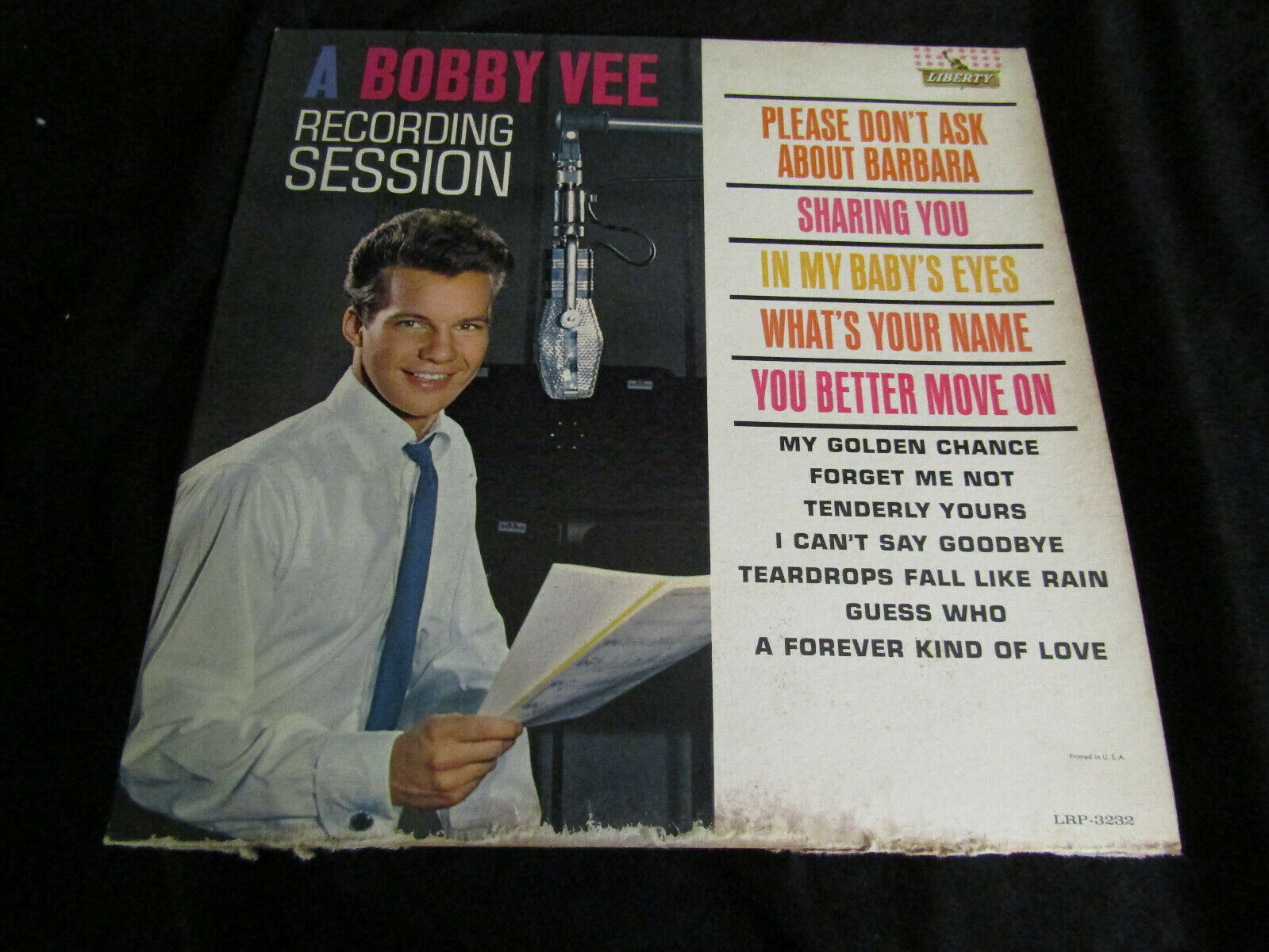 Primary image for Bobby Vee Recording Session Liberty LRP-3232 Mono Vinyl Record LP