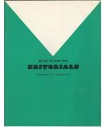 WTIC TV-AM-FM EDitorials Nov 1972-Oct 73 Vol. 4~Vintage Booklet from Con... - $19.69