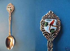 FLORIDA Souvenir Collector Spoon Collectible STATE Red BIRD - $6.95