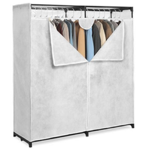 Whitmor White 60-inch, Extra-Wide Clothes Closet - $41.57