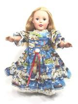 "Clothes American Handmade Blue N Dress 18"" Inch Girl Doll (89C4B123) - $29.99"