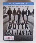Straight Outta Compton (Blu-ray/DVD) STEELBOOK TARGET EXCLUSIVE NEW SEALED - $30.28