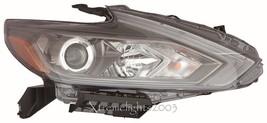 Fits Nissan Altima 2016 Halogen W/O Led Right Headlight Head Light Lamp Black - $480.15