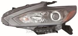 Fits Nissan Altima 2016 Halogen W/O Led Left Headlight Head Light Lamp Black - $480.15