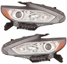 Fits Nissan Altima 2016 Halogen W/O Led Pair Headlights Head Lights Lamps Chrome - $975.15