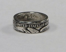 "Coin ring ""Handmade"" from WALKING LIBERTY  Silv... - $34.50"