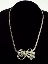 VINTAGE SILVER NECKLACE AND PENDANT WITH DECORATIVE STONES, 23.08g  #E1099 - $29.99