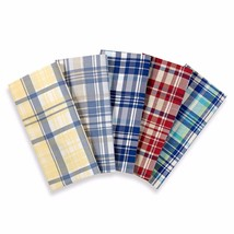 Lakeside Living 300 Thread Count 100% Cotton Sateen Plaid Sheet Set - 5 ... - $25.64+