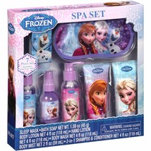 NEW NIP Disney Frozen 7 Piece Spa Gift Set Lotion Body Wash Shampoo Soap... - $15.99