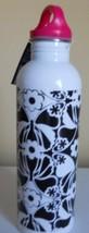 Old Navy Stainless Steel Water Bottle  Black White Flower Print 25 oz/75... - $12.99