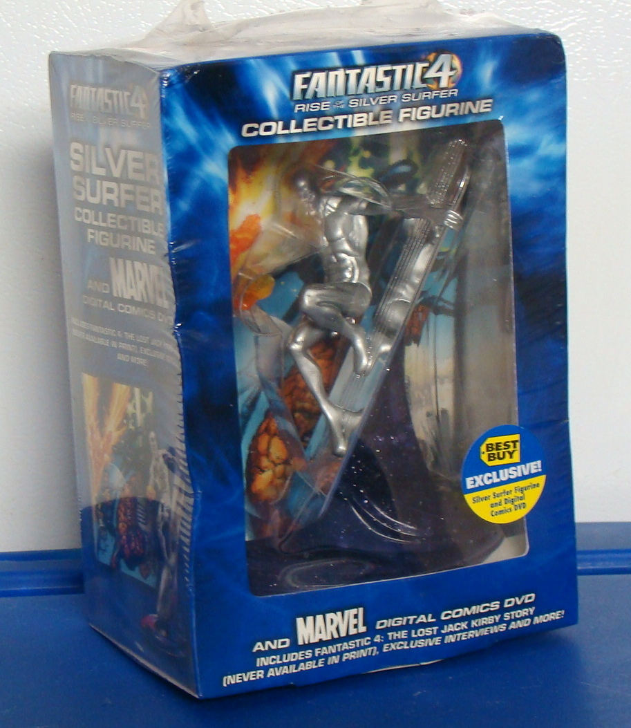Fantastic 4 Four Silver Surfer Collectible Figurine & DVD Digital Comic Best Buy