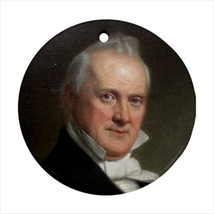 James Buchanan Pennsylvania Round Ornament w/ Ribbon Hanger - $7.37