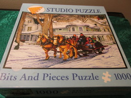 Studio Puzzle Bits And Pieces Horse Sleigh - $6.99
