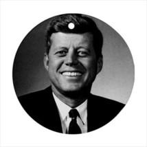 John F. Kennedy Massachusetts Round Ornament w/ Ribbon Hanger - $7.37