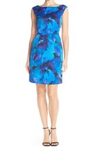 Tahari Arthur S. Levine Floral Print Sheath Dress, Purple, Sz. 12 - $58.99