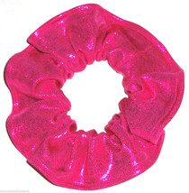 Hot Pink Spandex Hair Scrunchie Scrunchies by Sherry Dancewear Swimwear Fabric - $7.99