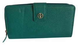 New $69.50 Giani Bernini Softy Core Leather Large Wallet in Deep Green - $43.45