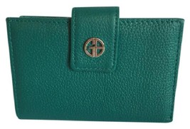 New $57.50 Giani Bernini Softy Core Leather Wallet in Deep Green - $33.77