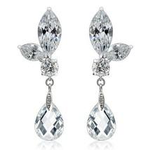 Elongated Zircon Crystal Women's Dangling Fashion Earrings Pair Great for Gifts - $15.83
