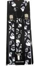 "Unisex Clip-on Braces Elastic New ""Skull"" Suspender Y-Back Suspender - $6.92"
