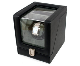 Decorebay Single Watch Winder with LCD - Black Leather New Gift - €75,38 EUR