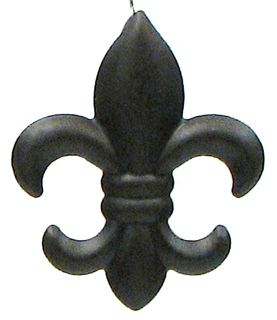New Set Of 3 Small Tin Fleur De Lis Wall Plaque Hanging