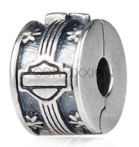 Sterling Silver European Charm Bead Clip Lock Stopper Burnout Tire Skid ... - $23.95