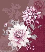 """Plush HEAVY Queen 3D Luxury BLOOMING DAHLIA Faux Mink FLOWER Blanket 79""""... - $69.95"""