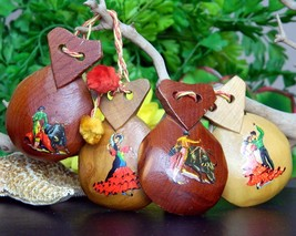Two pairs vintage wood spanish castanets flamenco dancers bullfighter thumb200