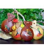 Two Pairs Vintage Wood Spanish Castanets Flamenco Dancers Bullfighter - £12.53 GBP