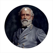 Robert E. Lee Round Ornament w/ Ribbon Hanger - $7.38