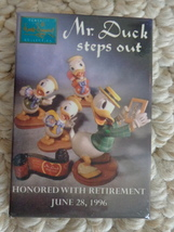 """""""Mr. Duck Steps Out"""" 1996 Retirement Pinback (#1964). - $5.99"""