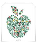 Mela (apple) cross stitch chart Alessandra Adelaide Needleworks - $16.75